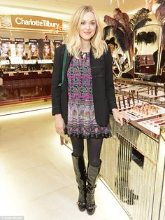 Mother's night out: Fearne Cotton cut a trim figure as she stepped out to a Christmas beau...