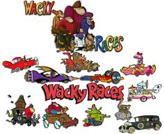 Wacky Races vehicles/drivers