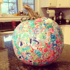Lilly Pulitzer Pumpkin!