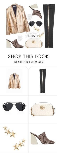 """""""Gold Star!"""" by badassbabyboomer ❤ liked on Polyvore featuring Zadig & Voltaire, Vanessa Bruno, Givenchy, Gucci, Kenneth Jay Lane and Mercedes Castillo"""