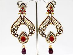 Indian Bollywood Stunning Fashion Designer Womens Partywear Earrings Jewelry Set #VGJewel #DropDangle