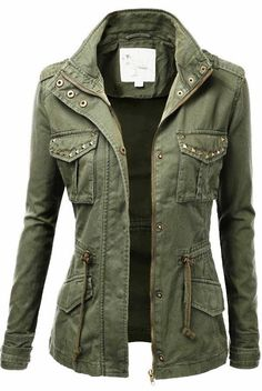 Green military jacket styl