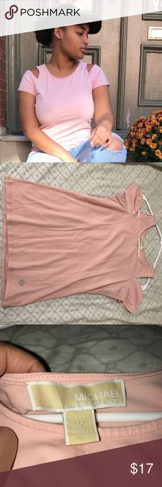 Michael Kors top Cute detail on the shoulders. Pretty color. Worn it only one time Great condition Michael Kors Tops