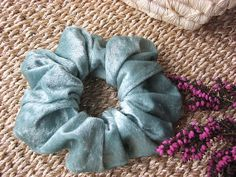 Green Velvet Hair Scrunchie For Girls and Ladies Useful by MINZZEE, $3.50