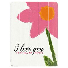 Planked wooden sign with a sponge paint-style flower.    Product: SignConstruction Material: Solid wood ...
