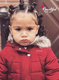 ideas baby girl hairstyles curly mixed hair tips for 2019 Mixed Kids Hairstyles, Baby Girl Hairstyles, Children Hairstyles, Toddler Hairstyles, Natural Hairstyles, Beautiful Children, Beautiful Babies, Mixed Girls, Portraits