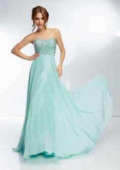 Paparazzi 95015 - mint bridesmaids dress (also in yellow, royal blue, and pink)