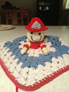 FireFighter Lovey by Amber Schaaf - This pattern is available for $1.00 USD.
