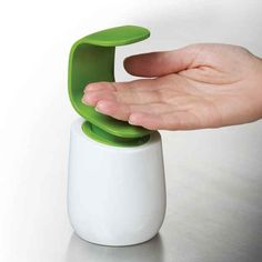 This Joseph Joseph Soap dispenser is one of the latest product of their fall collection.The unique design of this soap pump means that it can be easily operated with the back of one hand, helping to keep the top of the pump head cleaner and more hygienic. Clever Gadgets, Gadgets And Gizmos, Home Gadgets, Useful Gadgets, Amazon Gadgets, Cool Gadgets To Buy, Kitchen Soap Dispenser, Soap Dispensers, Bathroom Gadgets