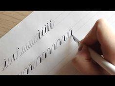 Каллиграфия. Как писать буквы? Часть 1. - YouTube
