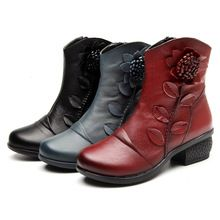 2016 New Women's Fashion Winter Warm Genuine Leather Ankle Boots Women Oblique Zipper Floral Boots for Women Red Black Blue     Tag a friend who would love this!     FREE Shipping Worldwide     #Style #Fashion #Clothing    Buy one here---> http://www.alifashionmarket.com/products/2016-new-womens-fashion-winter-warm-genuine-leather-ankle-boots-women-oblique-zipper-floral-boots-for-women-red-black-blue/