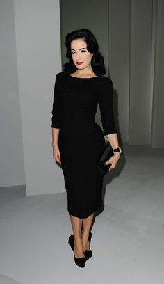 Dita Von Teese - Elie Saab S/S 2011 @ Paris Fashion Week, October 6th 2010