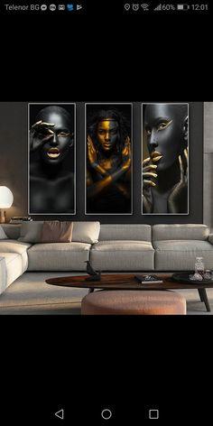 Black Girl Art, Black Women Art, Estudio Makeup, Rustic Office Decor, Dental Office Decor, African Art Paintings, African Home Decor, Gold Art, Wall Art Pictures