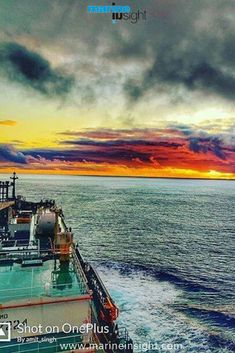 #atlanticocean #ocean #sunrise #oceanside #tankership #shipping #shiplife #ships #sailing #sailor #seaman #seafarers #marineisnight #merchantmarine #marineindustry  Photograph by Amit Singh