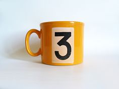 Unusual Staffordshire mug from the 1970s