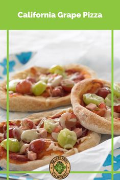 Try this grape pizza recipe featuring red grapes from California and mozzarella cheese for a sweet twist on classic pizza recipes! #grapepizza #grapepizzarecipe #recipe #red #redgrapepizza #mozzarella #cheese #pizza #pizzarecipe #fresh #freshgrapes #grapes #graperecipes Grape Recipes, Summer Recipes, Salad Recipes, Breakfast Recipes, Dinner Recipes, Dessert Recipes, California Food, Pizza, Frozen Desserts