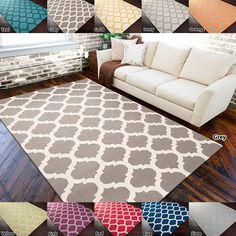 The Botswana area rug is a fun, colorful flatweave piece that will add a splash of contemporary style to any space. Available in several bold colors, this wool rug features a geometric Moroccan trellis pattern.