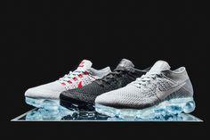 Nike Air VaporMax Flyknit to Release in Three Colorways for Air Max Day - EU Kicks: Sneaker Magazine Sapatos, Roupas, Tênis Nike, Moda Nike, Moda Desportiva, Modelos Fashion, Moda Milão, Moda Adolescente, Desfile De Moda