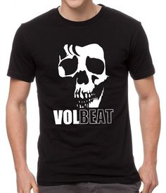 Volbeat+Danish+Rock+Band+Cool+Skull+Black+Men+T-Shirt