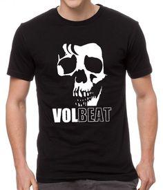 Volbeat+Danish+Rock+Band+Cool+Skull+Black+Men+T-Shirt