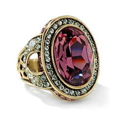 "Heidi Daus ""Signature Accent"" Crystal Ring"