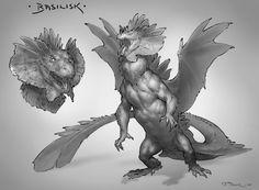 ArtStation - Creatuanary 2019!, Taran Fiddler Mythical Creatures Art, Alien Creatures, Creature Feature, Creature Design, Fantasy Beasts, Fantasy Art, Curious Creatures, Creature Concept Art, Fantasy Monster