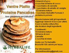 """""""Pancakes""""  Le ricette Herbalife sono ricche di sapori e fanno bene alla salute."""