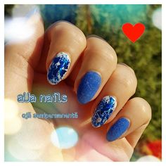 oja semipermanenta - albastru Nails, Beauty, Finger Nails, Beleza, Ongles, Nail, Cosmetology, Manicures