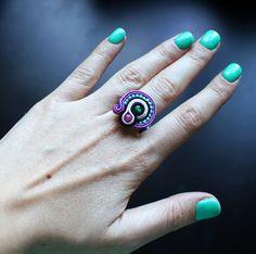soutache ring created by me (GOCHJU sutasz ) :)