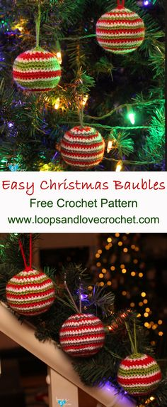 If you are a crochet lover, you can consider making some Christmas Crochet ornaments by yourself. We especially like Crochet ornaments. It must be very nice and unique to hang our own Crochet Christmas Baubles on our Christmas tree. Crochet Christmas Decorations, Crochet Decoration, Crochet Ornaments, Christmas Crochet Patterns, Holiday Crochet, Crochet Home, Christmas Baubles, Simple Christmas, Christmas Crafts