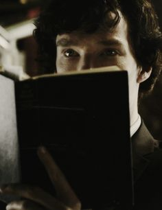 Sherlock with a book! Two of my absolute favorite things together! #iLoveCumberReading