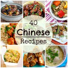 40 Chinese Recipes from Dumplings to General Tso's Chicken!!