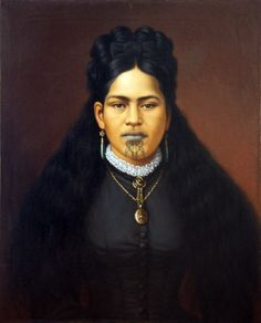 Portrait of a Maori Woman in Colonial Dress Maori Face Tattoo, Maori Tattoos, Polynesian People, Polynesian Art, Maori Symbols, Zealand Tattoo, Maori People, Maori Designs, New Zealand Art