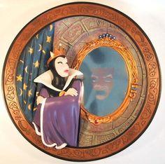 "Disney Snow White ""Magic mirror on the wall"" decorative plate"