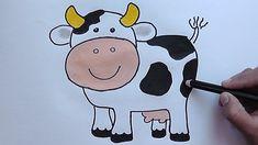 Como dibujar y colorear paso a paso a la Vaca - As drawing and coloring ...