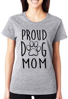 Gray 'Proud Dog Mom' Crewneck Tee - Plus