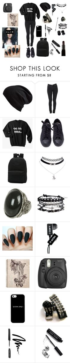 """""""Go to hell..."""" by ja-ja-ja ❤ liked on Polyvore featuring Echo, Cheap Monday, Converse, Vans, Wet Seal, Pieces, Fujifilm, Bobbi Brown Cosmetics and Illamasqua"""