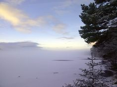Wintry Loch Morlich in Scotland, frozen over one morning in December 2014. No, I didn't swim. It transforms in the summer when Loch Morlich's sandy beaches are filled with picnickers and sunbathers