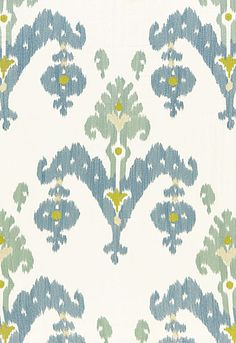 """Love this Fabric: Raja Embroidery Sky Width 51.25"""" Vertical Repeat 22.5"""" such pretty colors"""