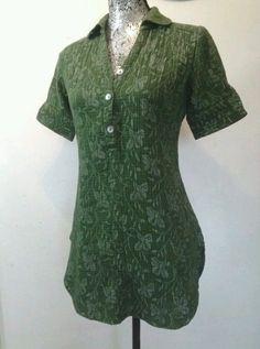 GYPSY BRAND HENLEY SHIRT MINI DRESS SHORT SLEEVES XS  S BOHO FLORAL EARTHY TUNIC #GYPSYWOMAN #ShirtDress #Casual