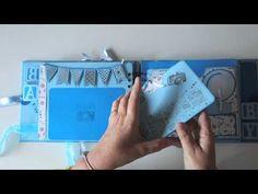 Álbum para bebé. Baby album. DIY Scrapbook - YouTube