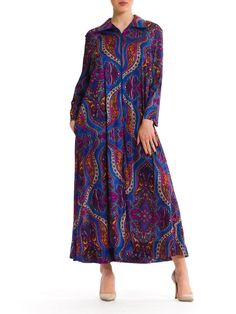 1960s Vintage Extravagant Colorful Long Dress  by MORPHEWCONCEPT