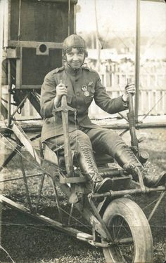 Ruth Law - bought her first airplane from Orville Wright in 1912 at the age of 21 and was the first woman to do a loop-de-loop.  She was also the First woman authorized to wear a uniform by the U.S. Military.