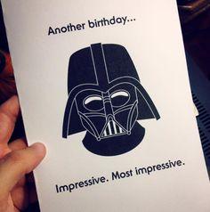Tarjetas de cumpleaños Star Wars