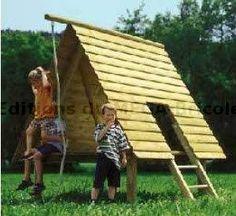 Cabane sur le jardin