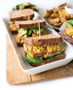 Sandwiches, Vegan Recipes, Food, Vegane Rezepte, Essen, Meals, Paninis, Yemek, Eten