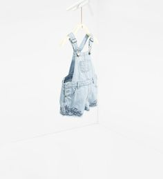 Embroidered denim dungarees from Zara - $26