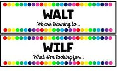 I made these cards for my whiteboard. I printed, laminated and then attached them used adhesive magnetic strips.Included are WALT, WILF, TIB, Learning Intention, Learning Objective and Success Criteria.Credit for fonts go to Kimberly Geswein http://www.kimberlygeswein.com/