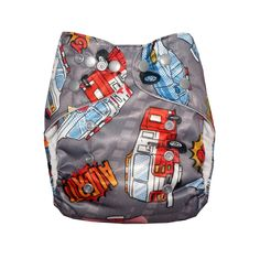 Classic - Emergency Vehicles Cloth Diaper