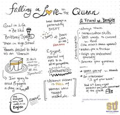 Sketchy Ummah: Falling in Love with the Qu'ran p1 of notes from Ustadha Maryam Amirebrahimi's lecture